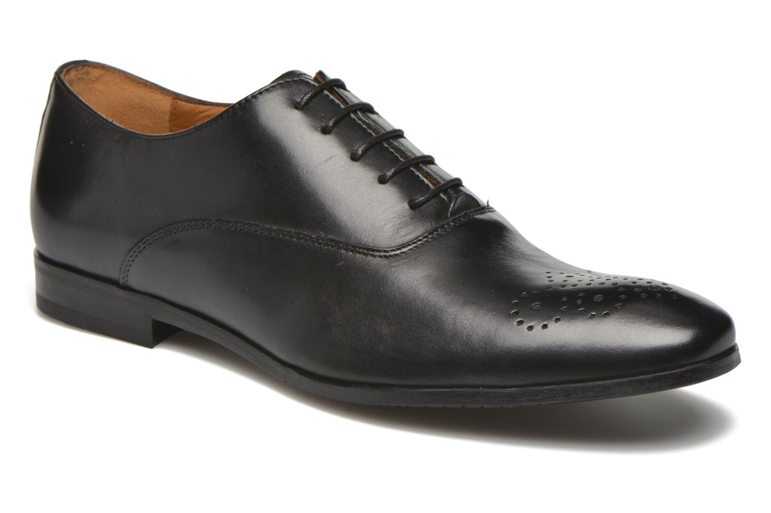 Lace-up shoes Marvin&co Newmilton Black detailed view/ Pair view