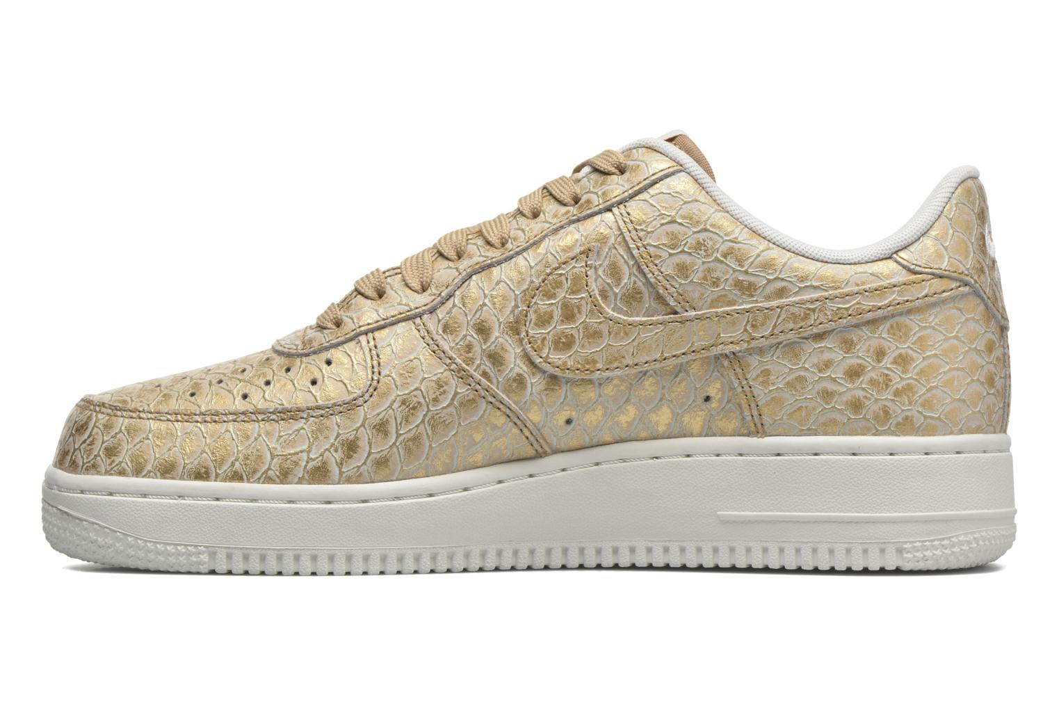 Trainers Nike Air Force 1 '07 Lv8 Bronze and Gold front view