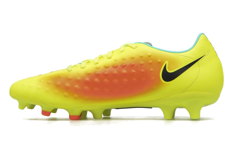 Chaussures de sport Nike Magista Onda II Fg Jaune vue face