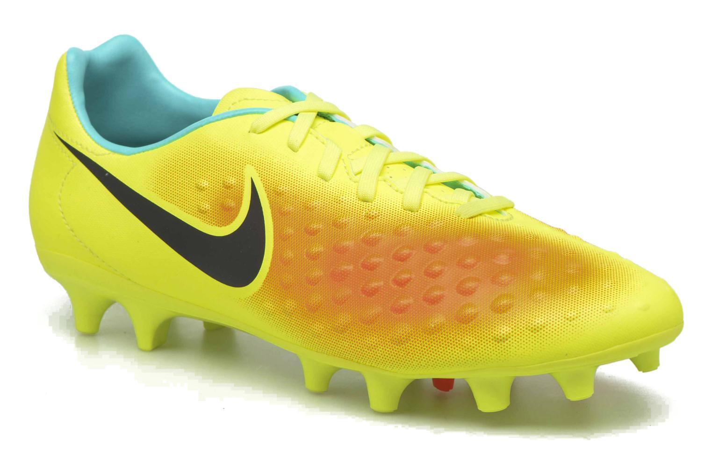 Chaussures de sport Nike Magista Onda II Fg Jaune vue détail/paire