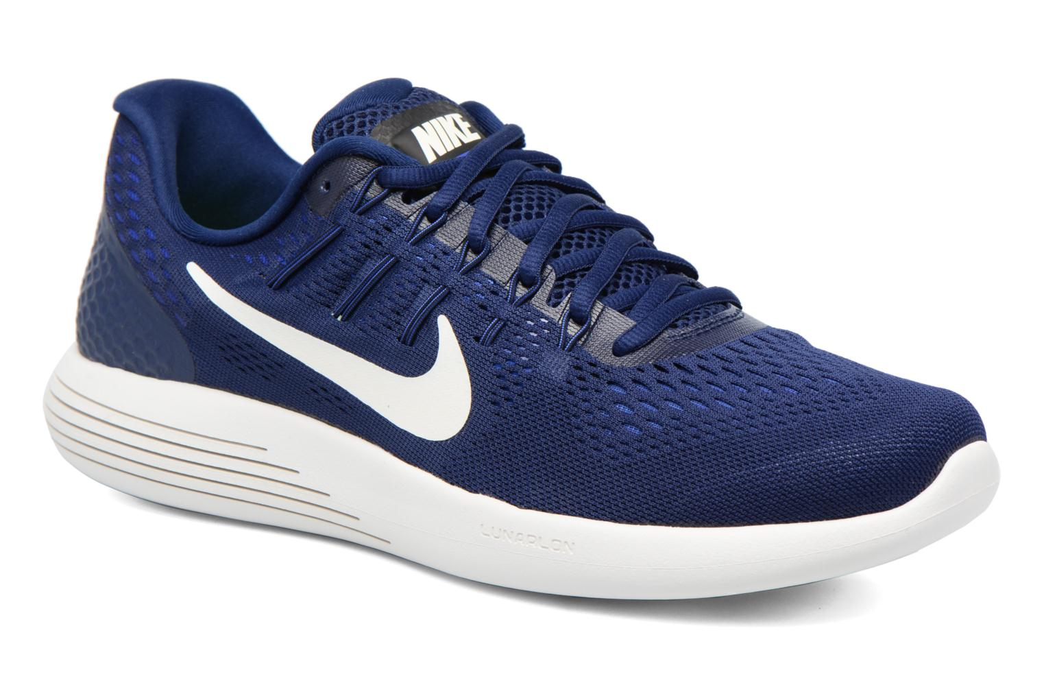 Sport shoes Nike Nike Lunarglide 8 Blue detailed view/ Pair view