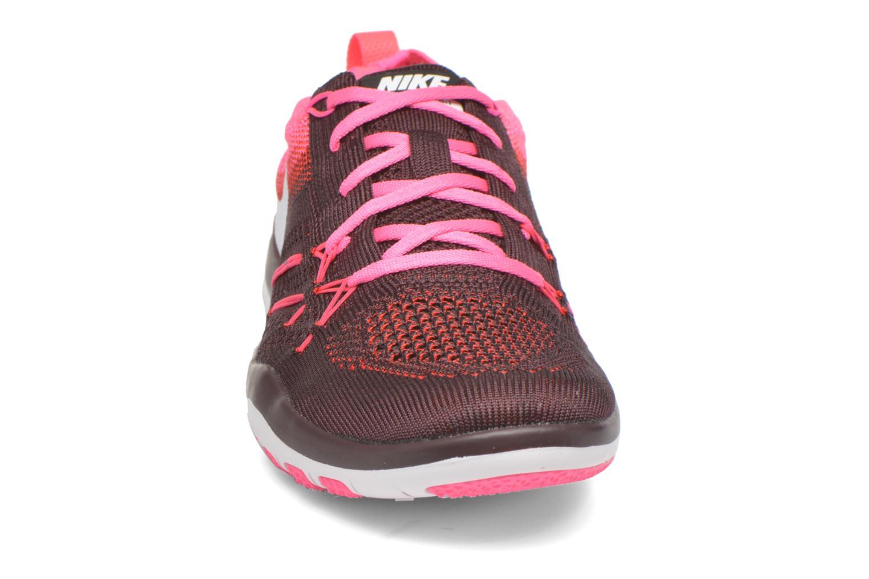 Chaussures de sport Nike W Nike Free Tr Focus Flyknit Bordeaux vue portées chaussures