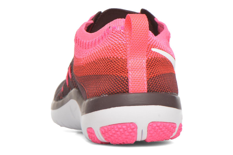Chaussures de sport Nike W Nike Free Tr Focus Flyknit Bordeaux vue droite