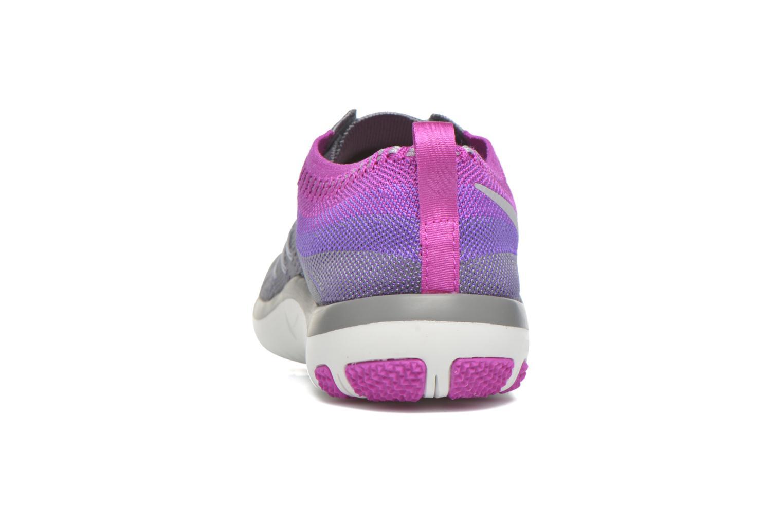 Chaussures de sport Nike W Nike Free Tr Focus Flyknit Gris vue droite