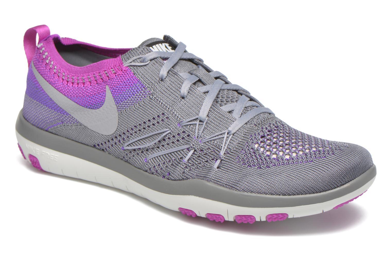 Chaussures de sport Nike W Nike Free Tr Focus Flyknit Gris vue détail/paire