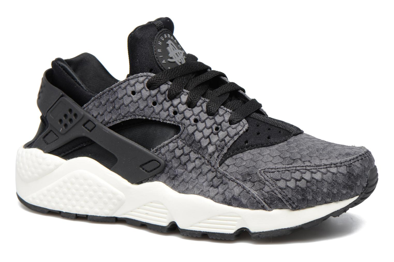 Wmns Air Huarache Run Prm Black/Black-Sail-Dark Grey