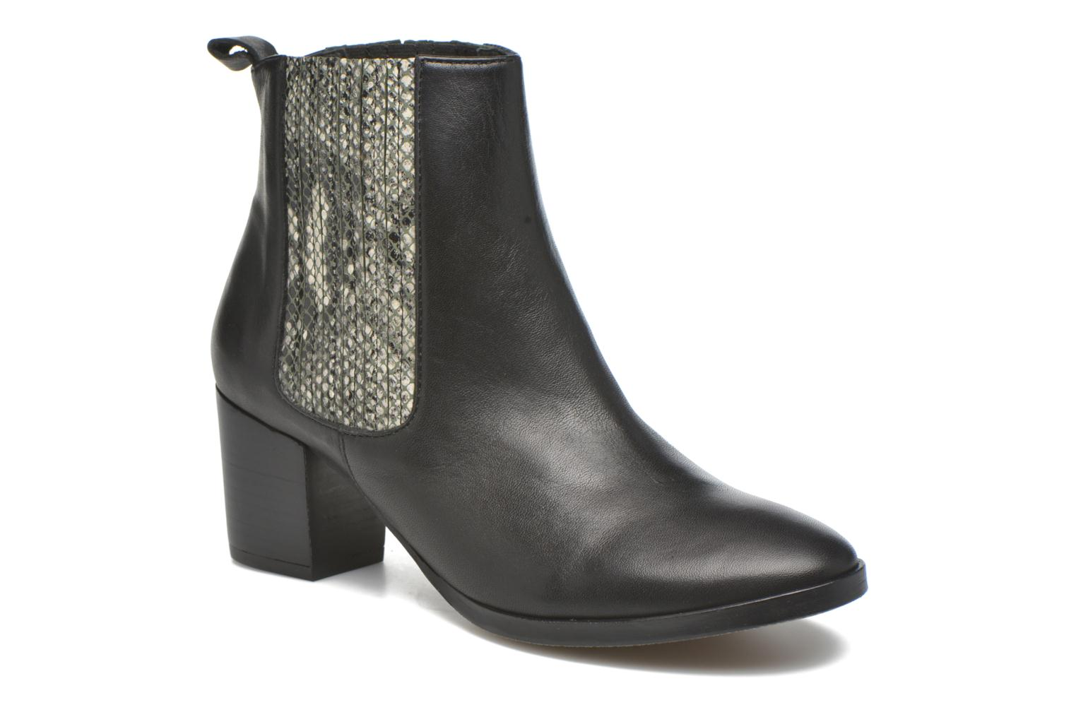 Ankle boots Georgia Rose Galea Black detailed view/ Pair view