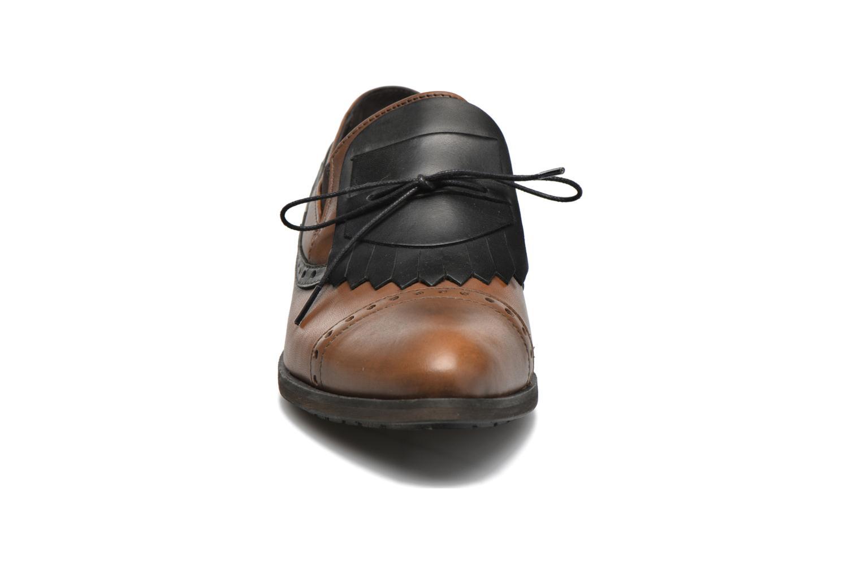 Mocassins Dkode Sirian Marron vue portées chaussures