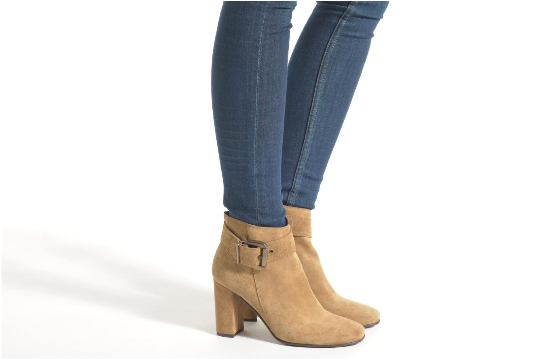 Bottines et boots Georgia Rose Mabouk Noir vue bas / vue portée sac