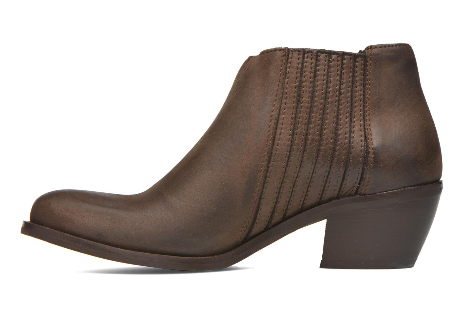 Ankle boots Georgia Rose Matiag Brown front view