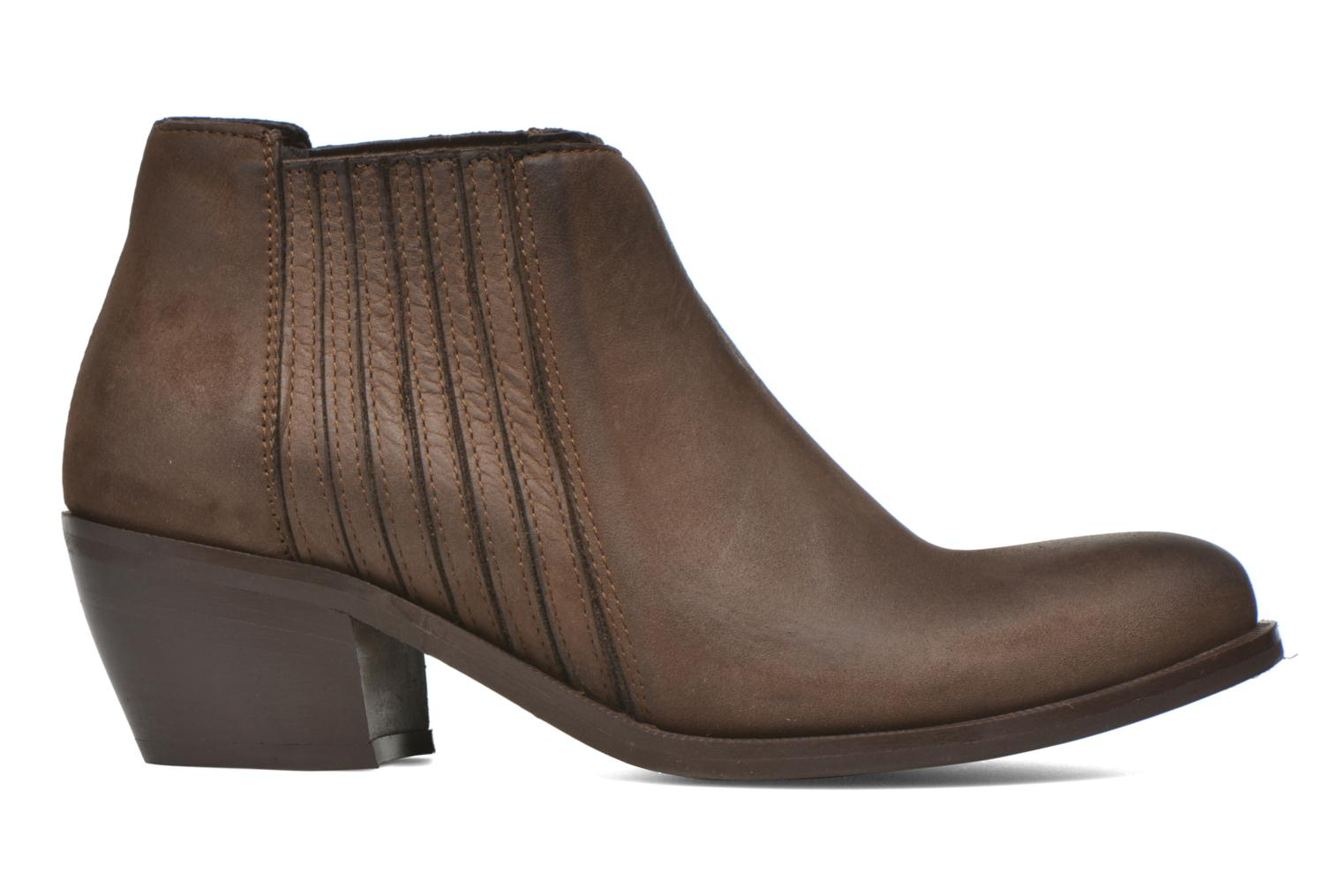 Ankle boots Georgia Rose Matiag Brown back view