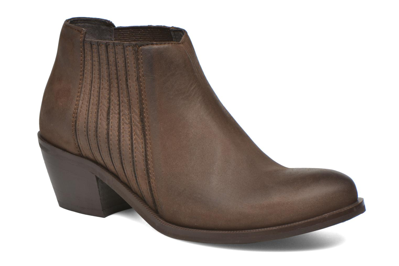 Ankle boots Georgia Rose Matiag Brown detailed view/ Pair view