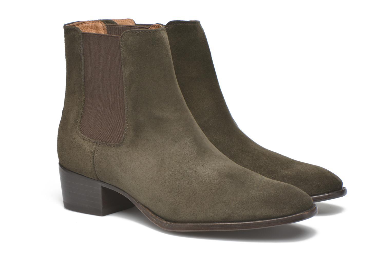 Bottines et boots Frye Dara Chelsea Vert vue 3/4