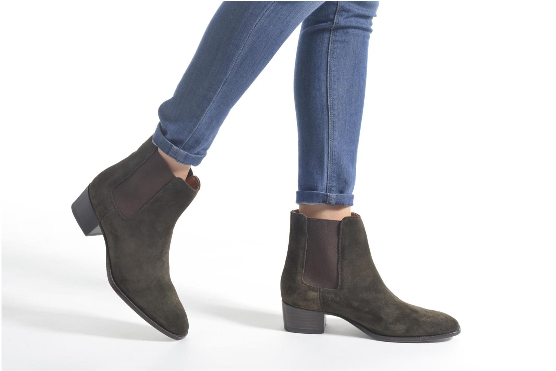 Bottines et boots Frye Dara Chelsea Vert vue bas / vue portée sac