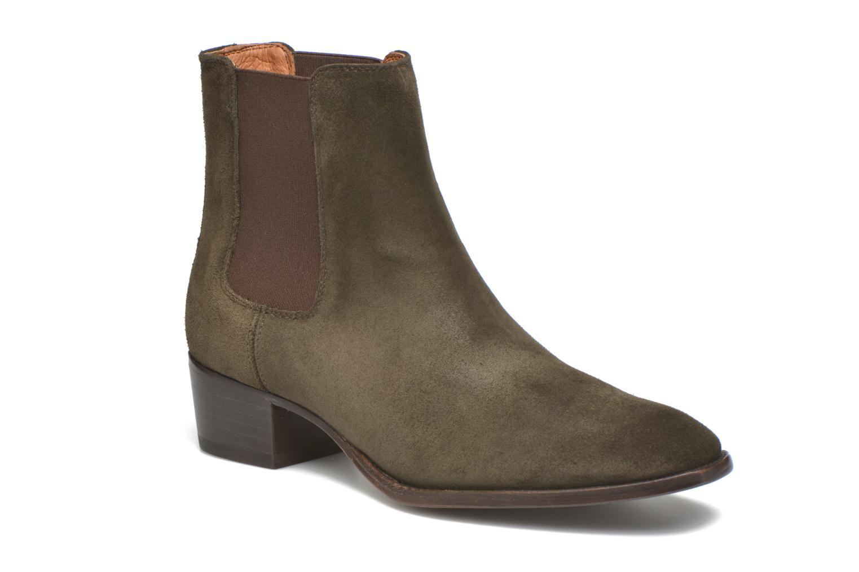 Bottines et boots Frye Dara Chelsea Vert vue détail/paire