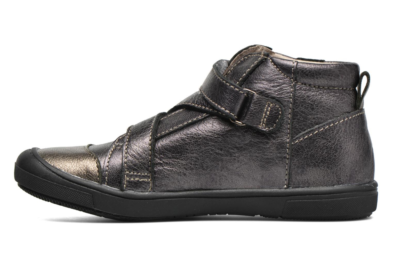 Zapatos con velcro Catimini Monarque Gris vista de frente