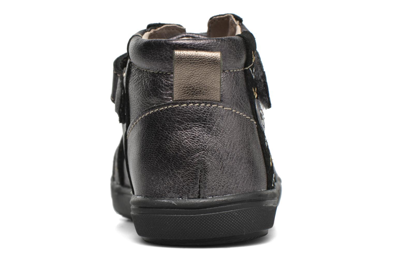 Zapatos con velcro Catimini Monarque Gris vista lateral derecha