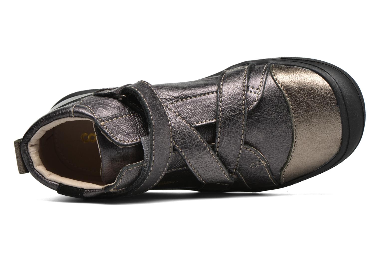 Zapatos con velcro Catimini Monarque Gris vista lateral izquierda