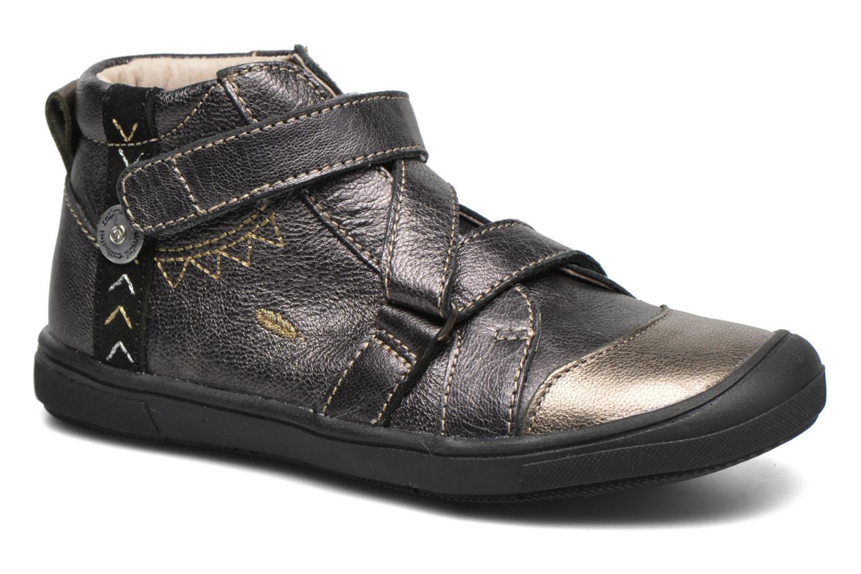 Zapatos con velcro Catimini Monarque Gris vista de detalle / par