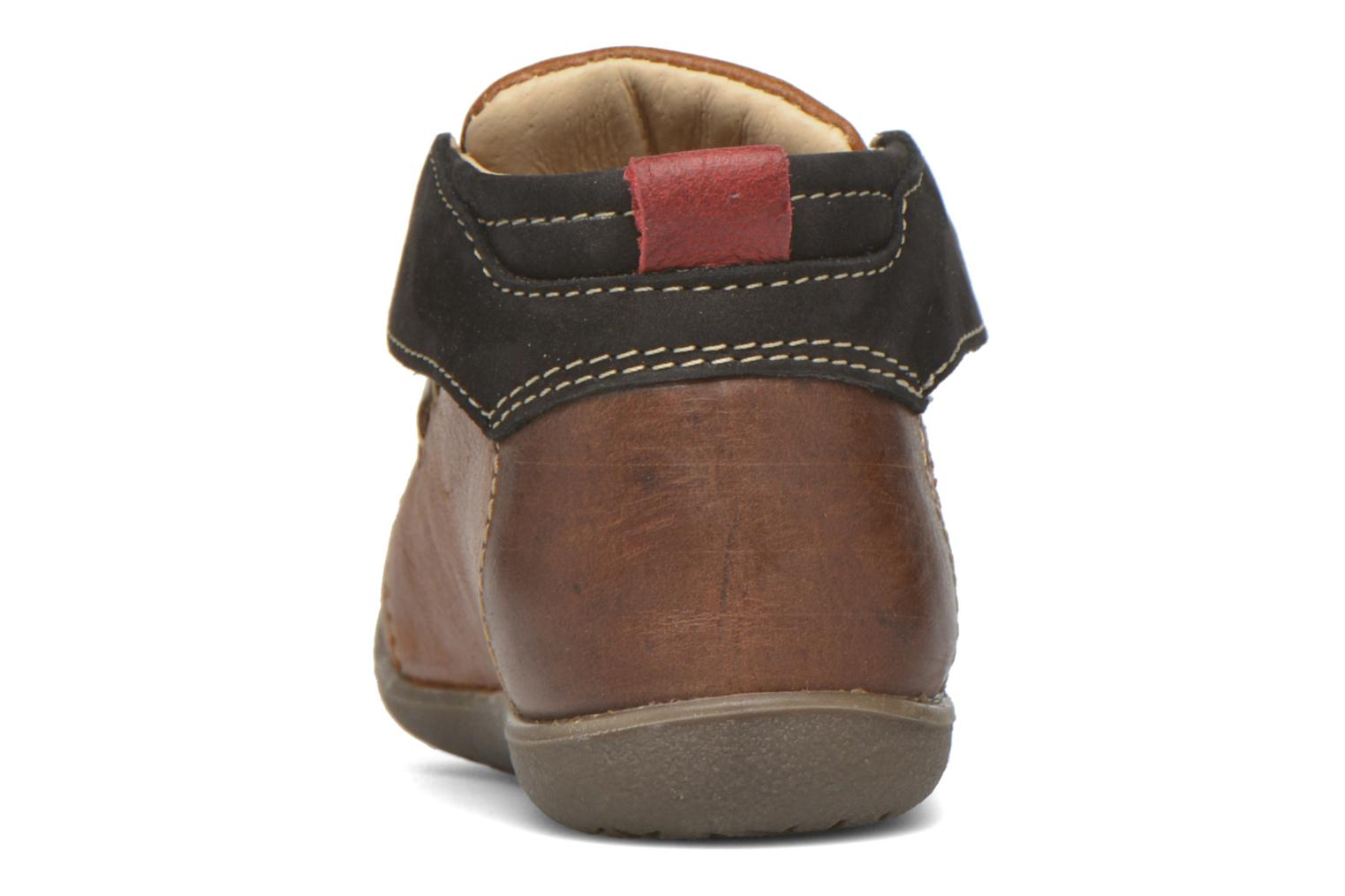 Lace-up shoes Catimini Cardinal Brown view from the right