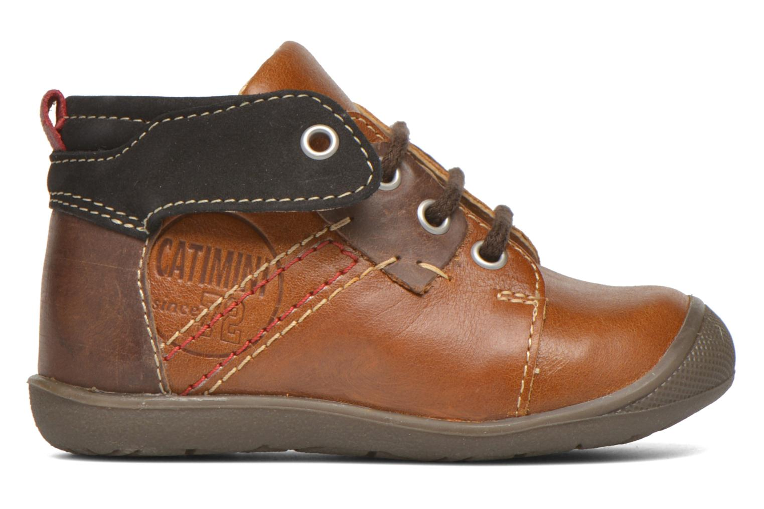 Lace-up shoes Catimini Cardinal Brown back view