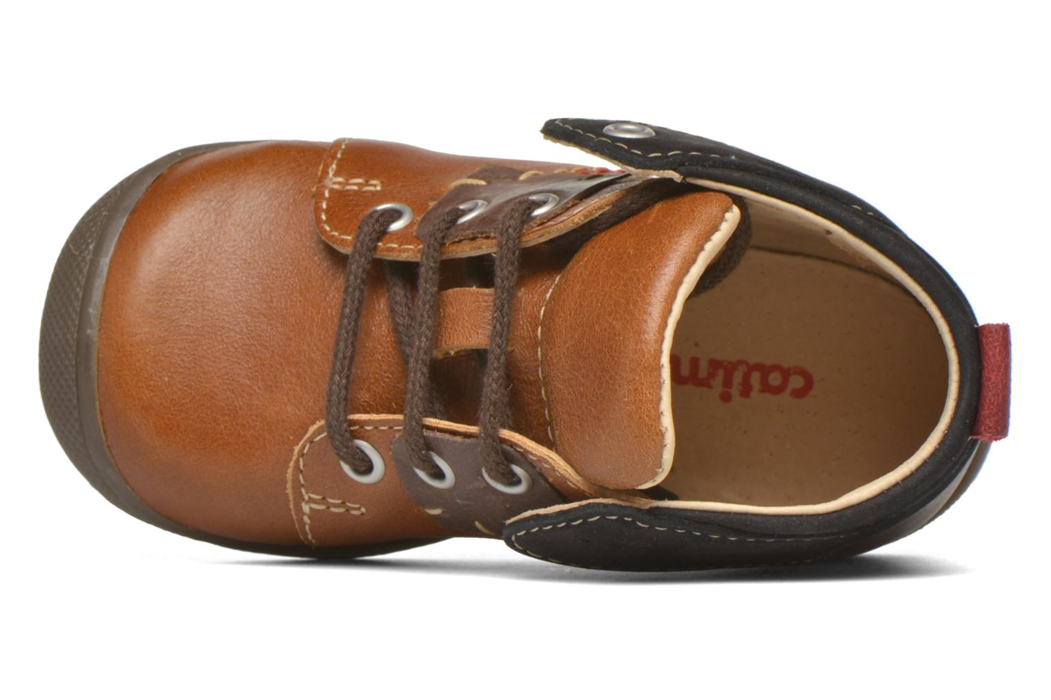 Lace-up shoes Catimini Cardinal Brown view from the left