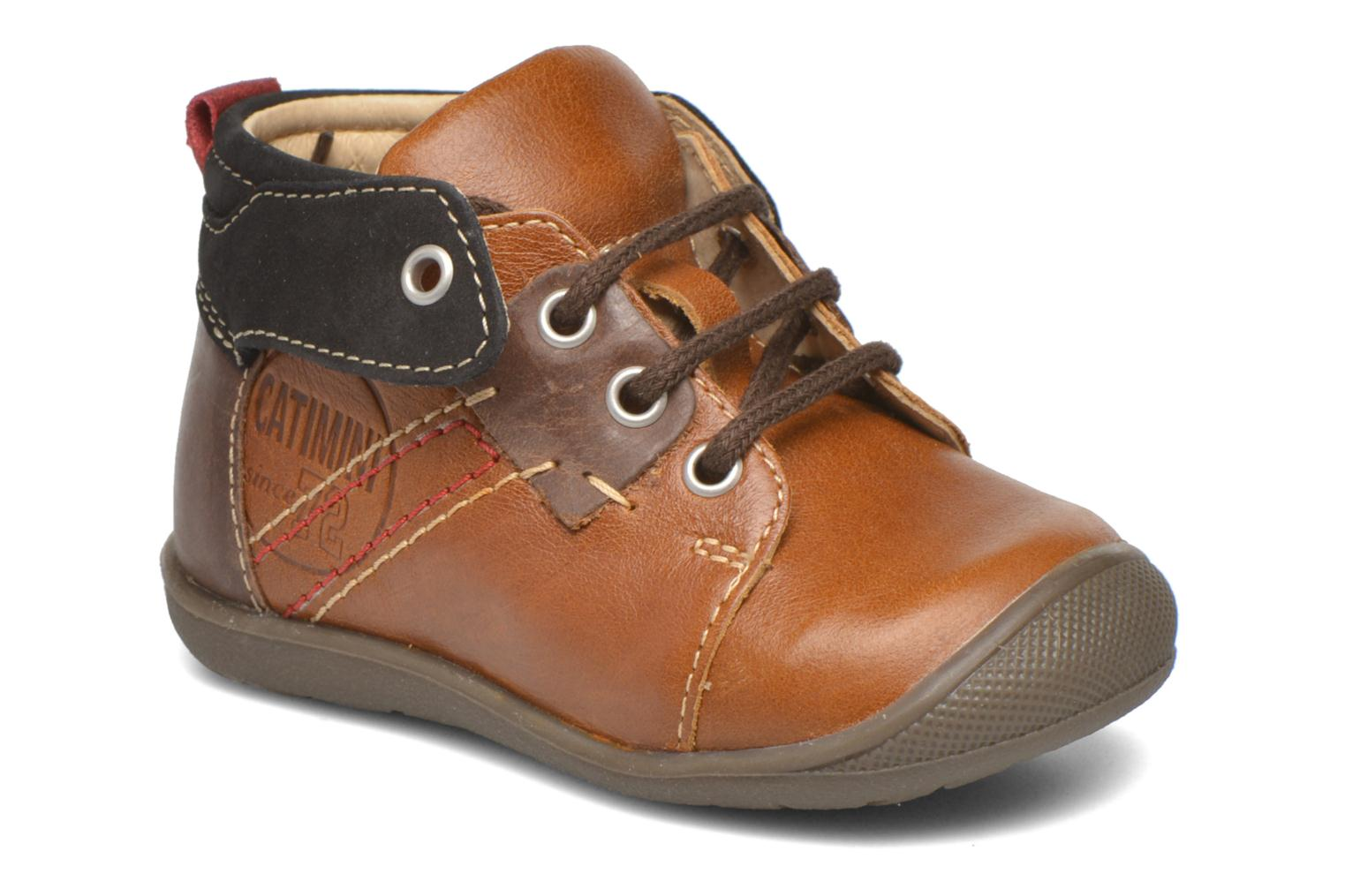 Lace-up shoes Catimini Cardinal Brown detailed view/ Pair view