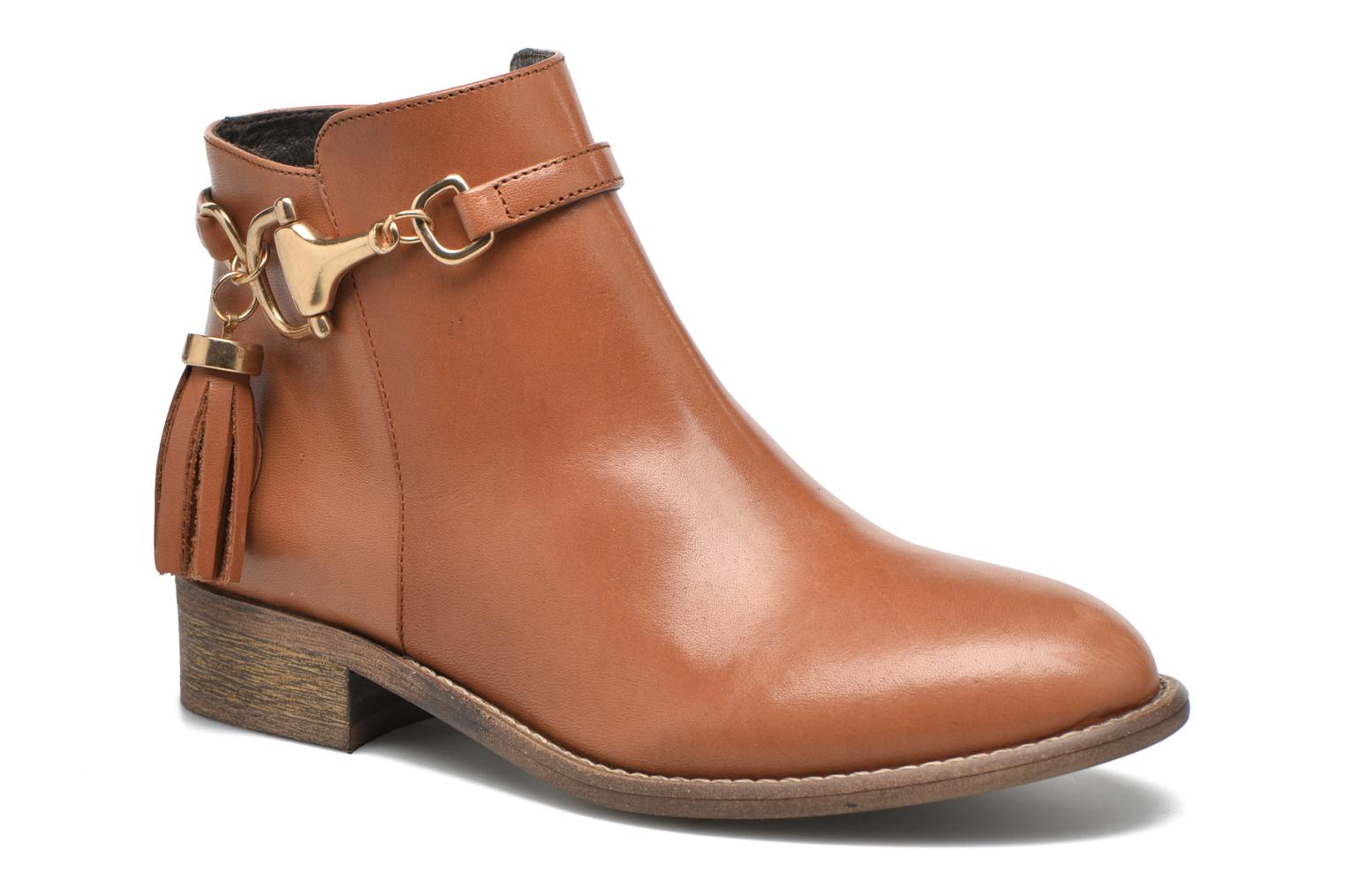 Ankle boots Yep Flavy Brown detailed view/ Pair view