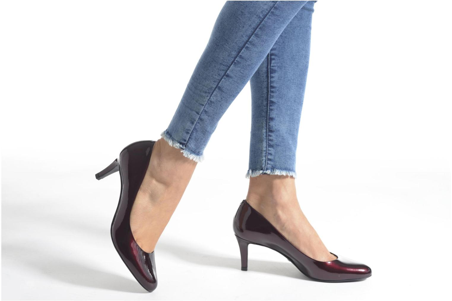 High heels Minelli Volle Burgundy view from underneath / model view