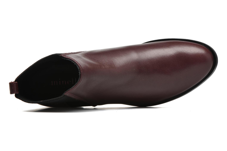 Bottines et boots Minelli Mièl Bordeaux vue gauche