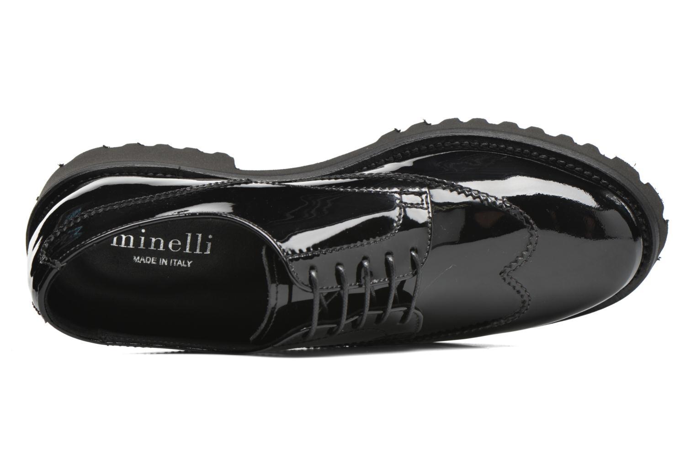Zapatos con cordones Minelli Roke Negro vista lateral izquierda