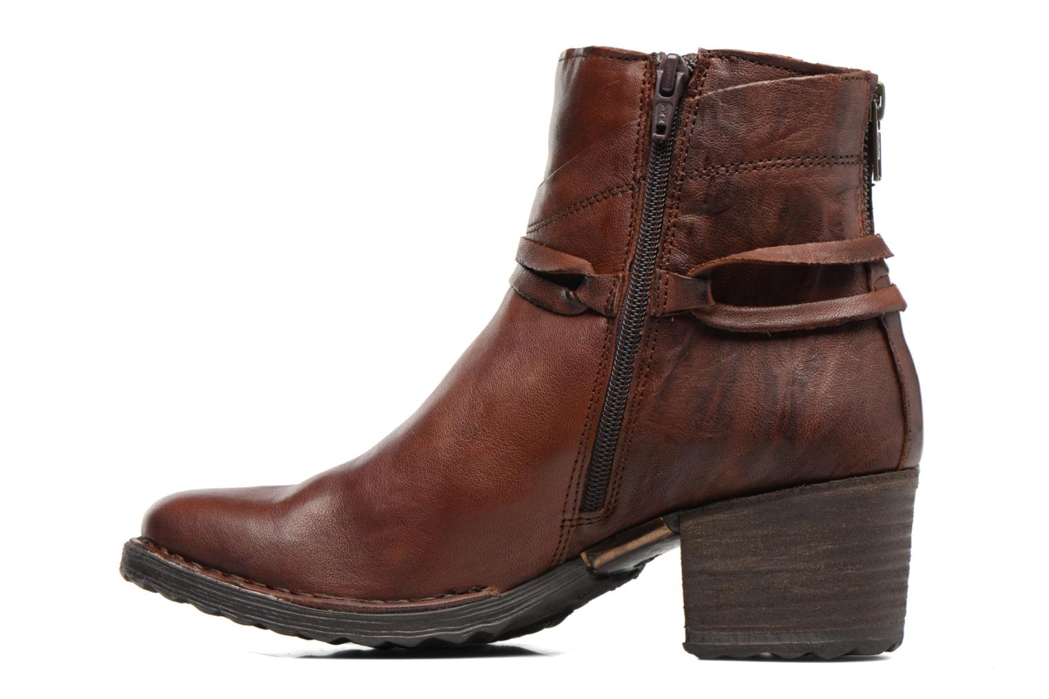 Ankle boots Khrio Oréona Brown front view