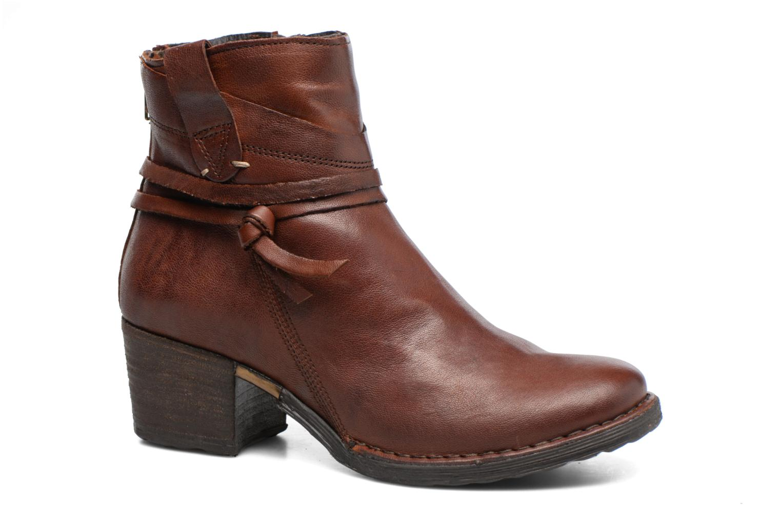 Ankle boots Khrio Oréona Brown detailed view/ Pair view