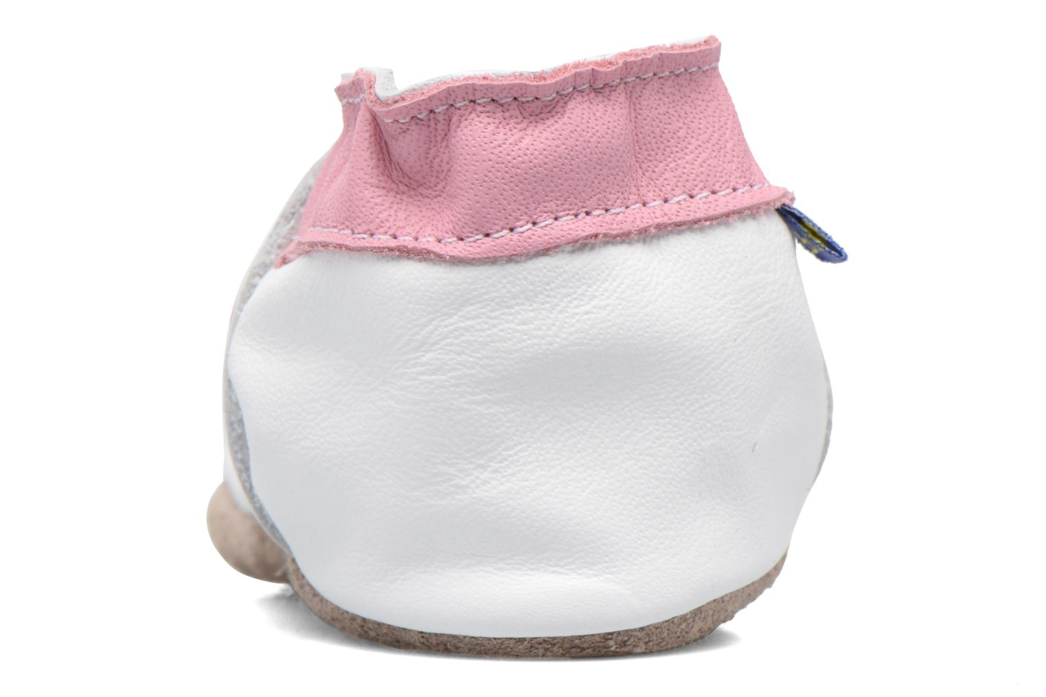 Chaussons Inch Blue Teddy Pink Blanc vue droite