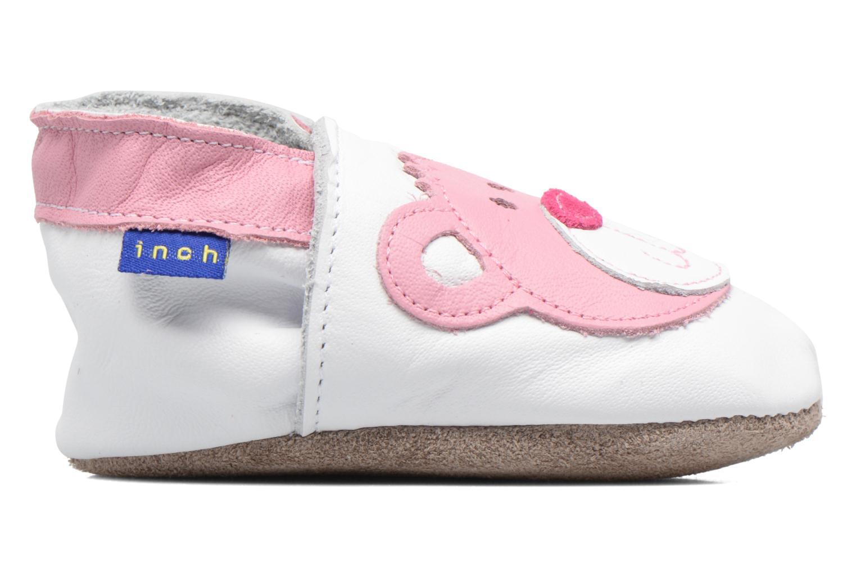Chaussons Inch Blue Teddy Pink Blanc vue derrière