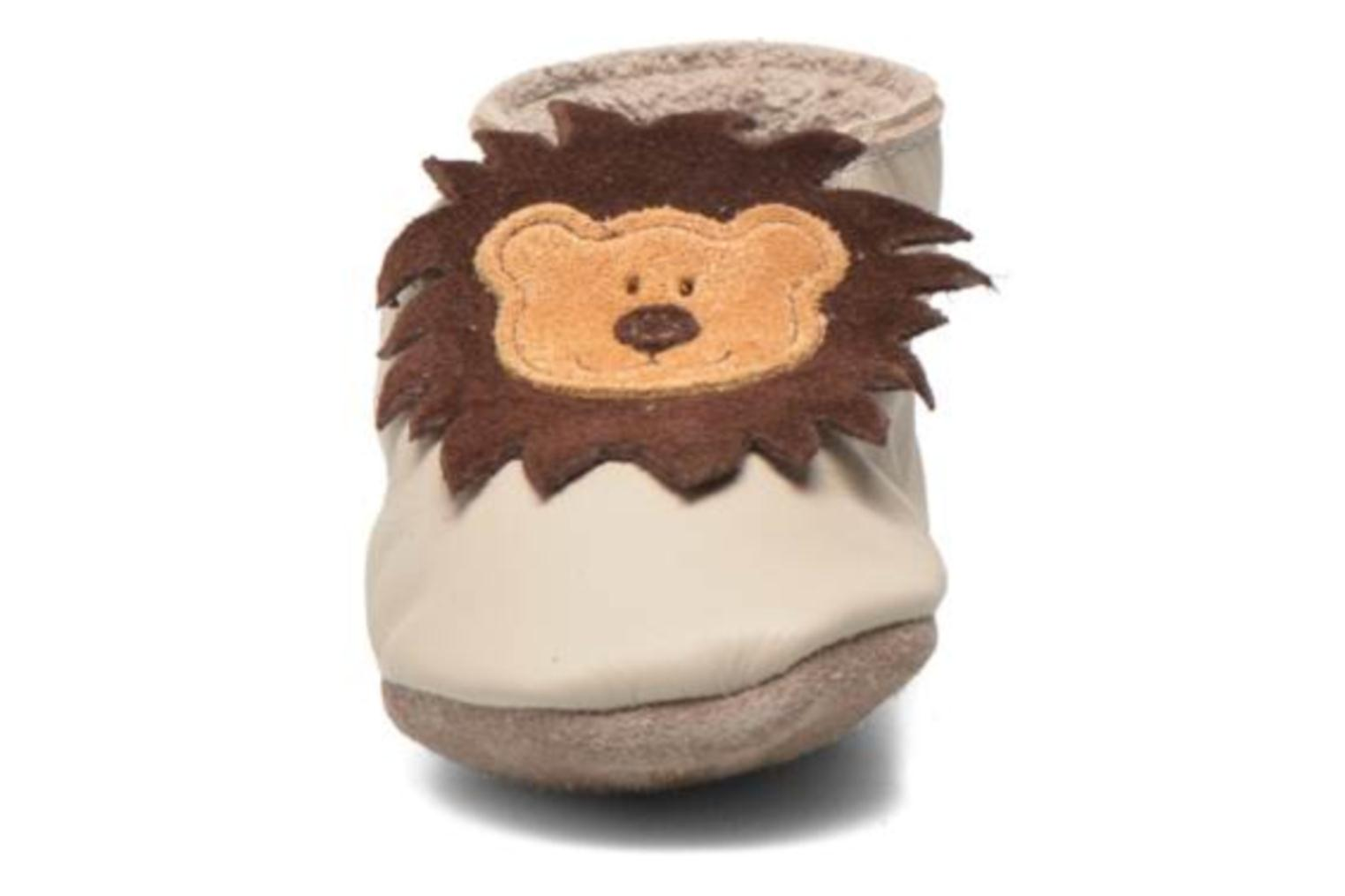 Slippers Inch Blue Leo Beige model view