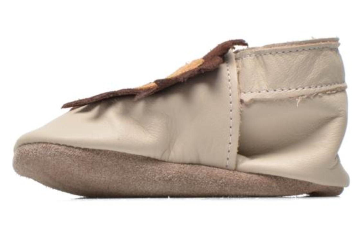 Slippers Inch Blue Leo Beige front view