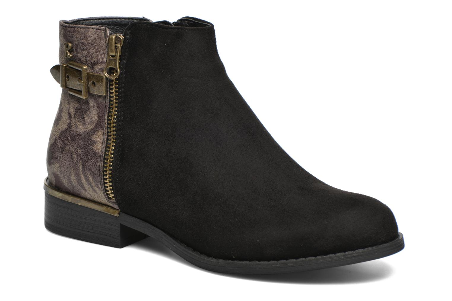 Ankle boots Refresh Marbré 62296 Black detailed view/ Pair view