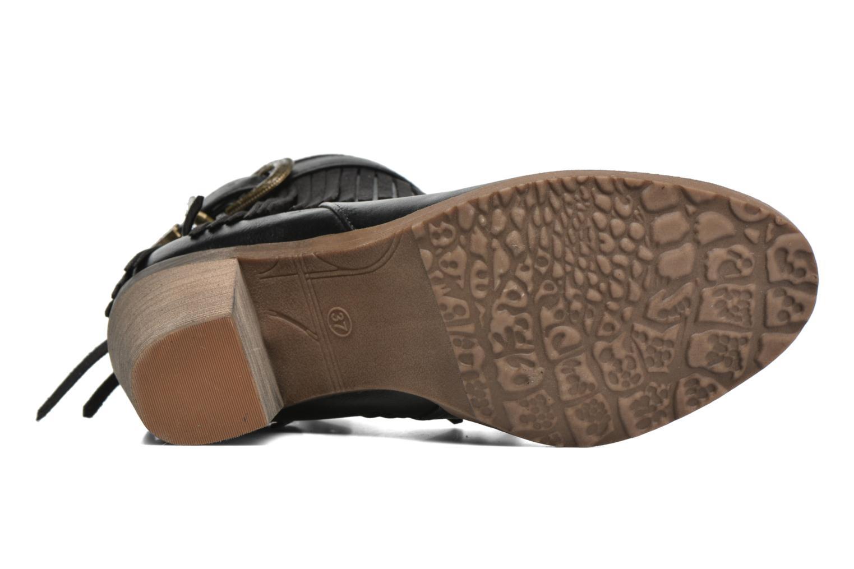 Bottines et boots Refresh Priscilla 62231 Noir vue haut