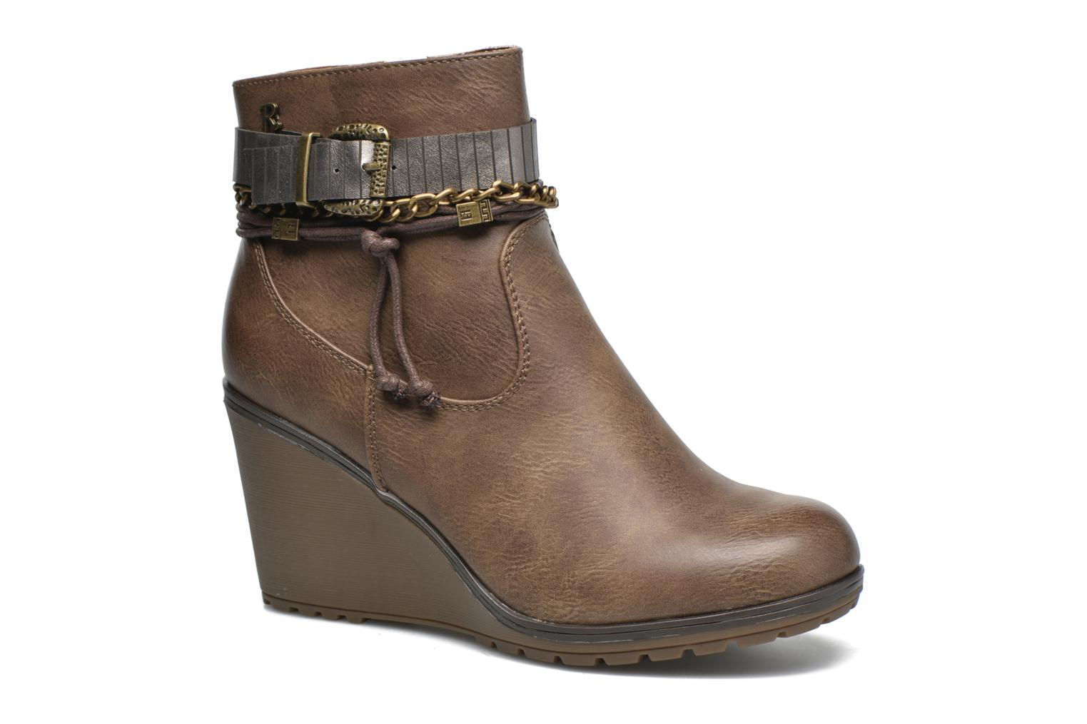 Ankle boots Refresh Fiona 62170 Brown detailed view/ Pair view