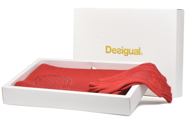 Sonstiges Desigual Coffret foulard/gants rot detaillierte ansicht/modell