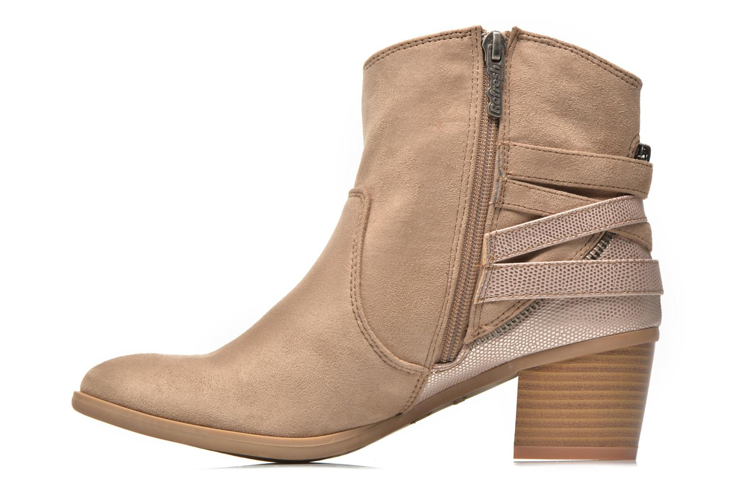 Bottines et boots Refresh Salamanca-61740 Beige vue face
