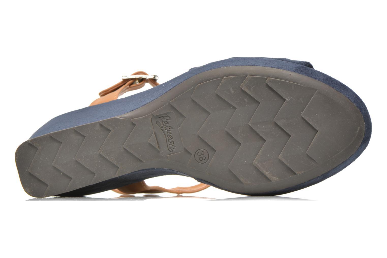 Sandales et nu-pieds Refresh Cassida-61790 Bleu vue haut