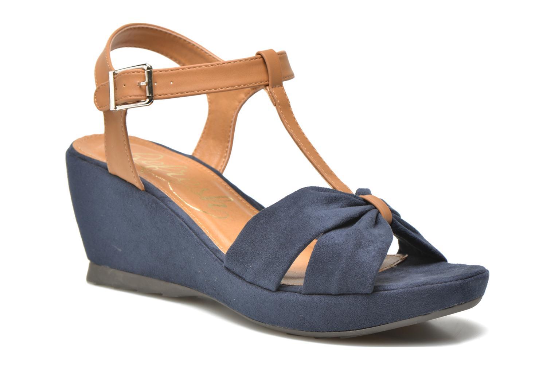 Sandales et nu-pieds Refresh Cassida-61790 Bleu vue détail/paire