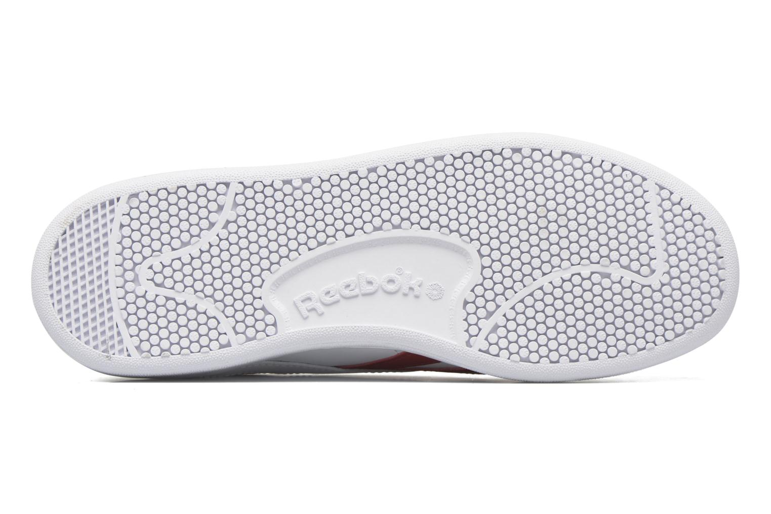 Baskets Reebok Npc Uk Retro Blanc vue haut