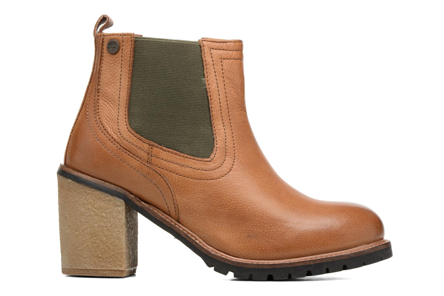Ankle boots Gioseppo Izard Brown back view