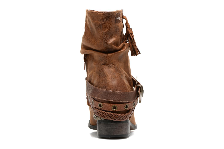 Bottines et boots MTNG Wendy Marron vue droite