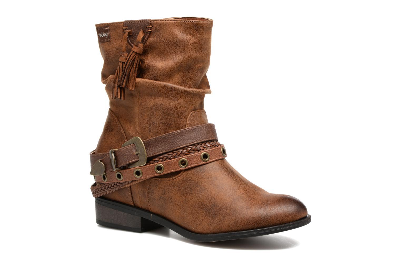 Bottines et boots MTNG Wendy Marron vue détail/paire