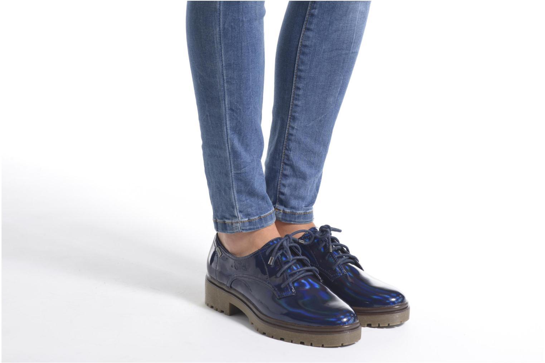 Chaussures à lacets MTNG Erik Bleu vue bas / vue portée sac