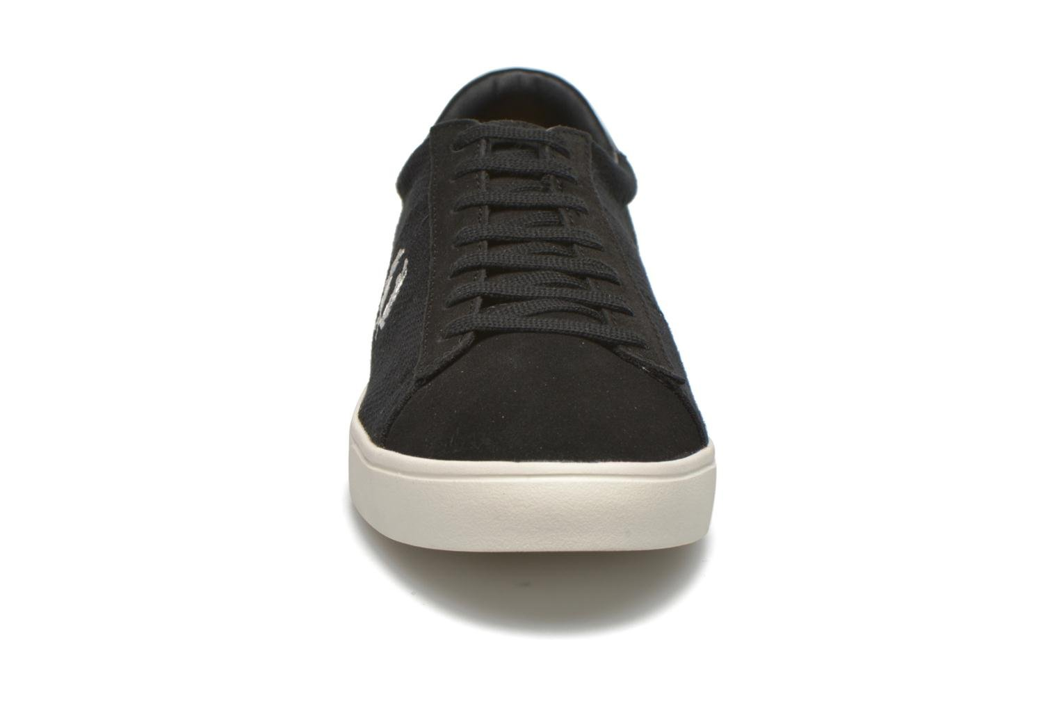 Baskets Fred Perry Spencer Herringbone Noir vue portées chaussures